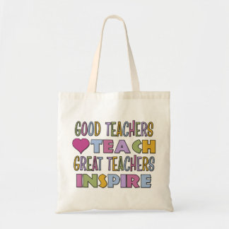 Good Teachers Teach Budget Tote Bag