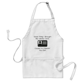 Good Thing I Brought My Library Card Aprons