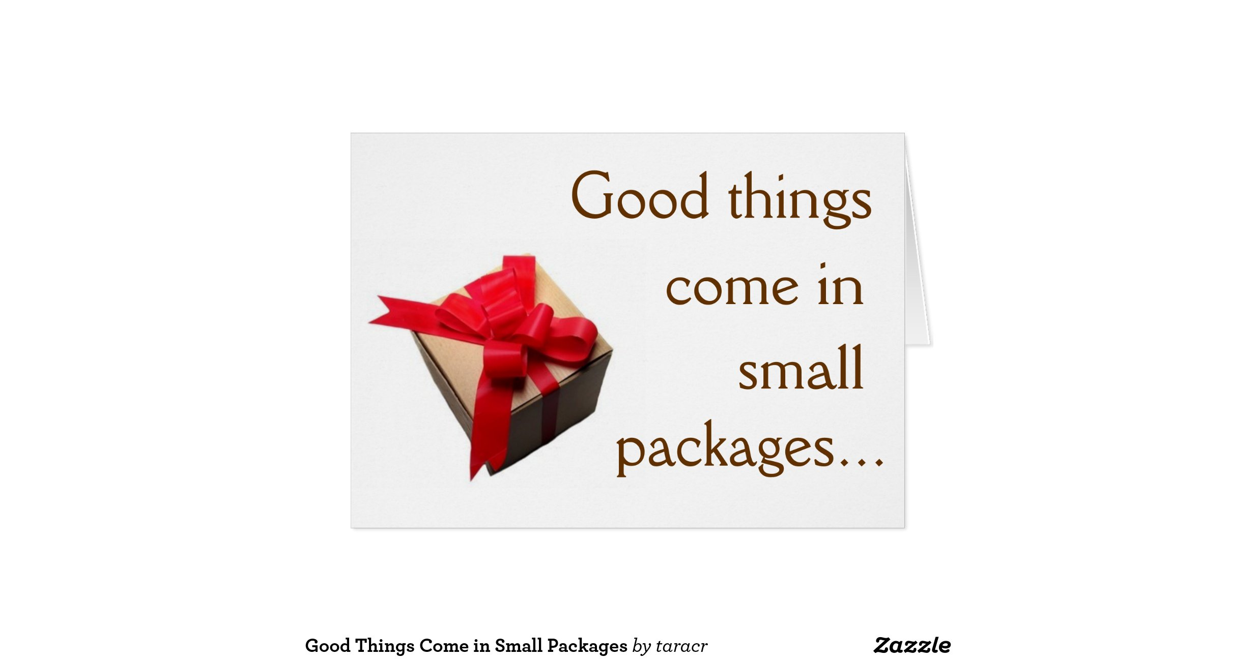 good things come in small packages stationery note card zazzle. Black Bedroom Furniture Sets. Home Design Ideas