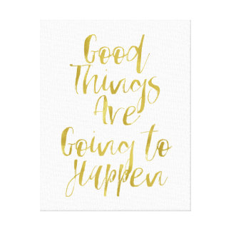 Good Things Gold Canvas Print