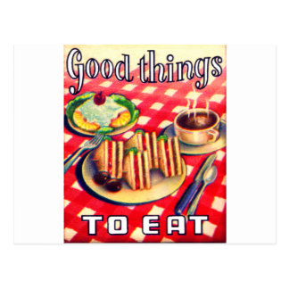 Good Things To Eat Postcard