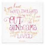 Good Thoughts Sunbeams Photo Print