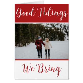Good Tidings We Bring Custom Christmas #holidayZ Card