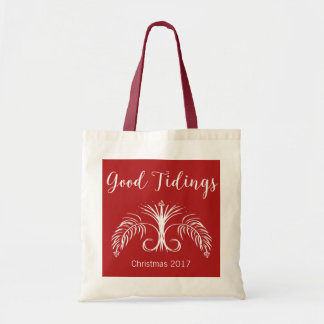 Good Tidings We Bring Custom Christmas #holidayZ Tote Bag