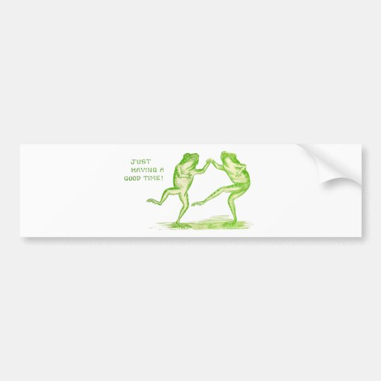 Good Time Frogs Bumper Sticker
