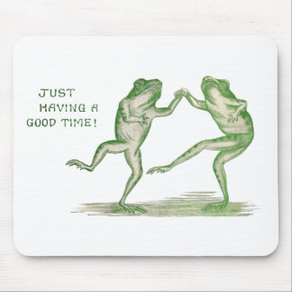 Good Time Frogs Dance Vintage Mouse Pad