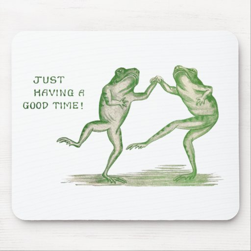 Good Time Frogs Dance Vintage Mouse Pads