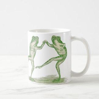 Good Time Frogs Dance Vintage Coffee Mug