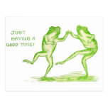 Good Time Frogs Post Card