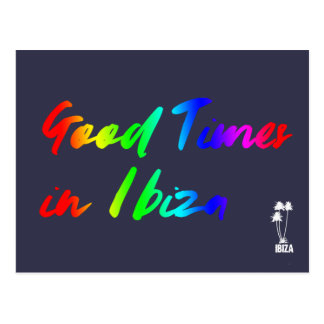 Good Times in Ibiza postcard