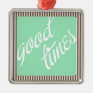 Good Times- Mint- Silver-Colored Square Decoration