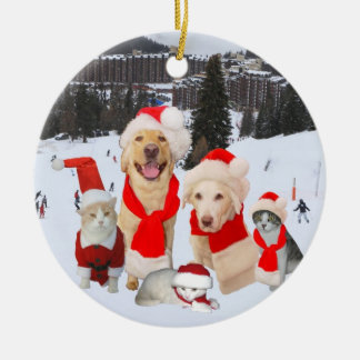 Good Times Together Double-Sided Ceramic Round Christmas Ornament