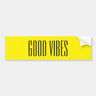 Good Vibes Customizable Black And Yellow New Age Bumper Sticker