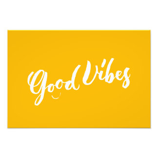 Good Vibes - Hand Lettering Design Photographic Print