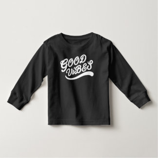 Good Vibes Happy Inspiring New Age Black And White Toddler T-Shirt
