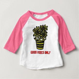 """Good Vibes Only"" Baby Raglan Shirt"