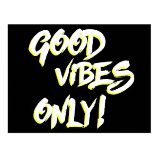 Good Vibes Only Grungy Postcard