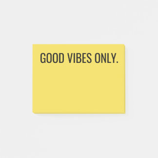 """Good Vibes Only"" Post-it Notes"