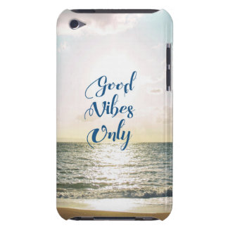 """Good Vibes Only"" Quote Be Positive, Sea Beach Sun iPod Case-Mate Case"