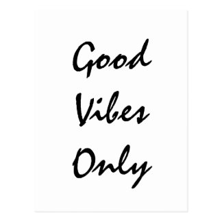"""Good Vibes Only"" Text Design Postcard"