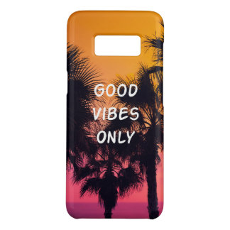 """""""Good Vibes Only""""  Tropical Beach Palms Sunset Case-Mate Samsung Galaxy S8 Case"""
