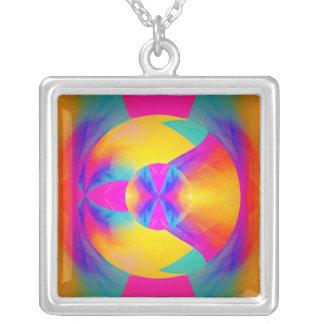 Good Vibrations Square Pendant Necklace
