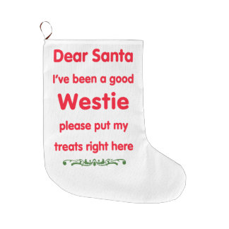 good Westie Large Christmas Stocking