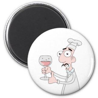 Good wine 6 cm round magnet