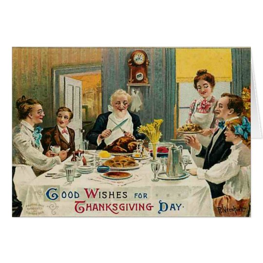 Good Wishes for Thanksgiving, Card