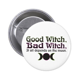 """Good Witch, Bad Witch..."" Buttons"