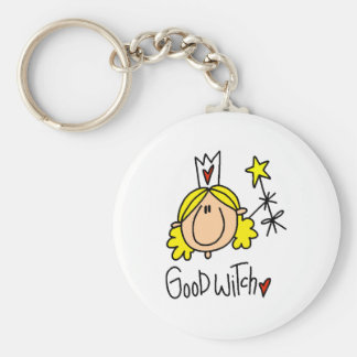 Good Witch Basic Round Button Key Ring
