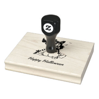 Good Witch Happy Halloween Rubber Stamp