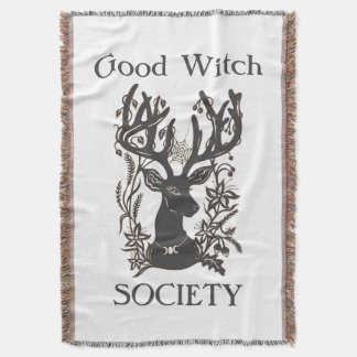 Good Witch Society Deer Throw Blanket