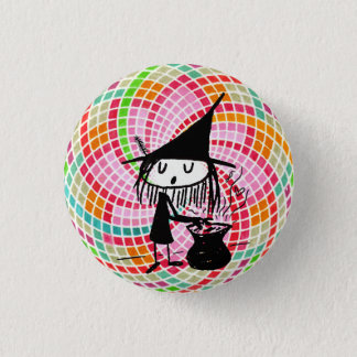 good witch with sacred geometry button