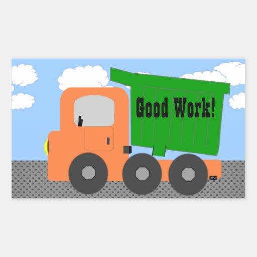 Good Work Truck Sticker