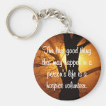 Good Works of the Hospice Volunteer Basic Round Button Key Ring