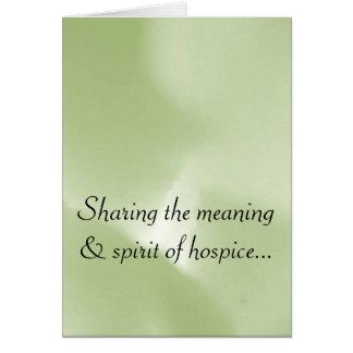 Good Works of the Hospice Volunteer Greeting Card