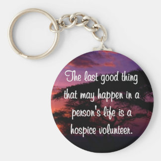 Good Works of the Hospice Volunteer Key Ring