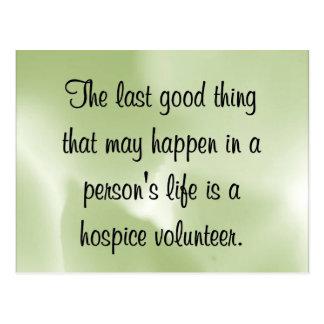 Good Works of the Hospice Volunteer Postcard