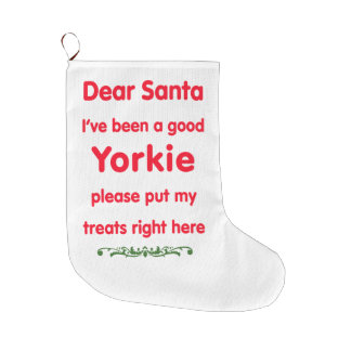 good yorkie large christmas stocking