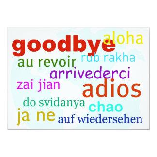 Goodbye 11 Cm X 16 Cm Invitation Card