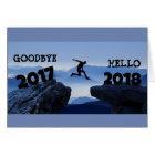 Goodbye 2017 Hello 2018 Happy New Year card