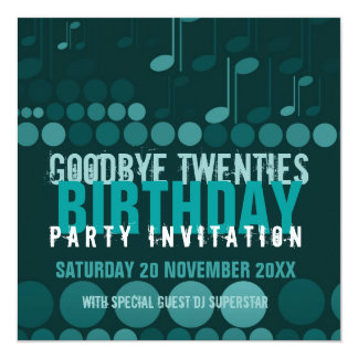 Goodbye 20s Birthday Dance Party Invitation