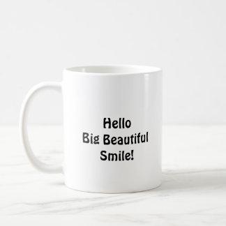 Goodbye Braces Hello Big Beautiful Smile Basic White Mug
