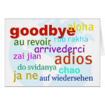 Goodbye Greeting Card