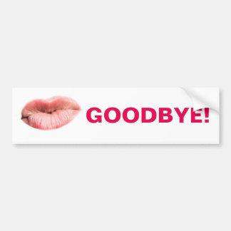 Goodbye kiss customizable bumper sticker