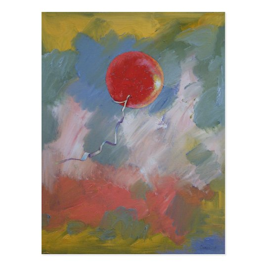 Goodbye Red Balloon Postcard
