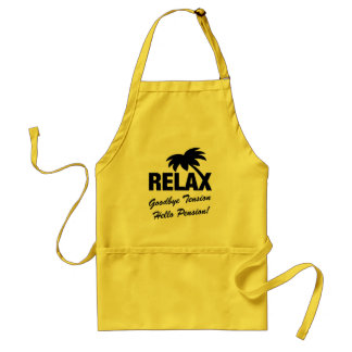 Goodbye tension hello pension retirement BBQ apron