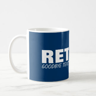 Goodbye tension Hello pension! Retirement joke mug