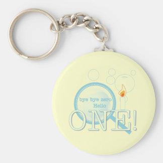 Goodbye Zero Hello One Birthday Basic Round Button Key Ring